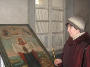 Н.Н.Павлова в Далматовском монастыре,февр.2009г.
